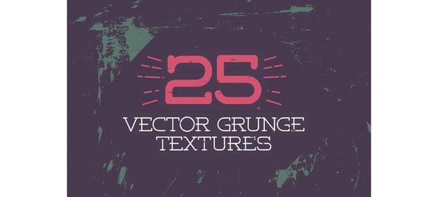 25 Vector Grunge Textures
