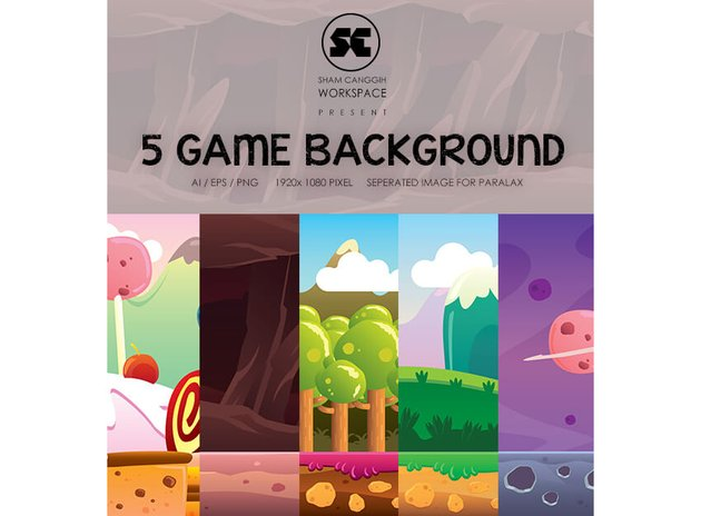 5 in 1 Game Background