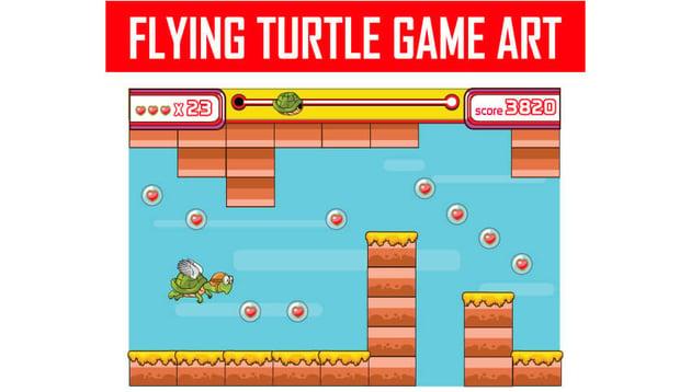 Flying Turtle Game Art