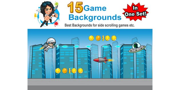 Game Backgrounds in one Set