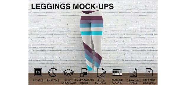 Leggings Mock-ups - Women Clothing