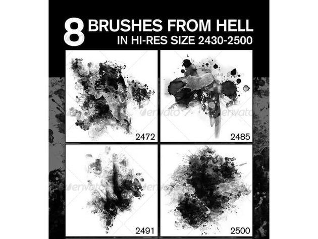 8 Fabulous Hi-Res Brushes ABR from Hell