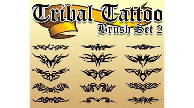 Tribal Tattoo Brush Set 2