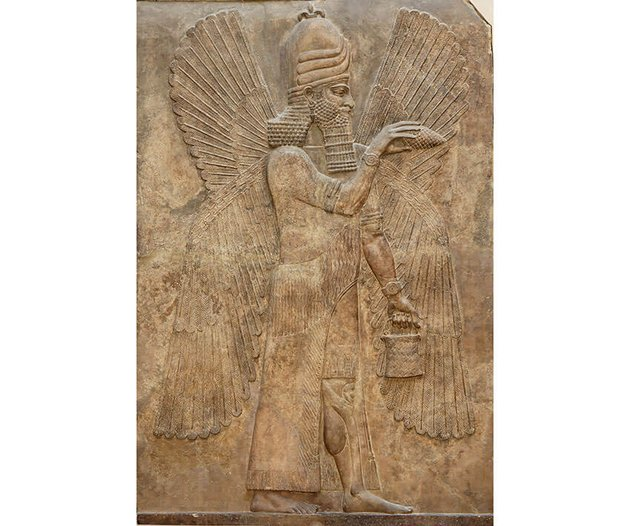 Winged Genii from the palace of King Sargon II at Dur Sharrukin