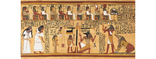 A portion of the Book of the Dead Image via Wikimedia Commons