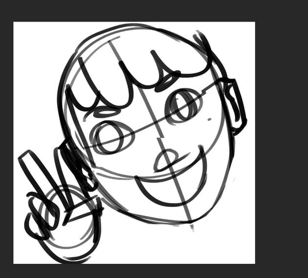 Make a loose sketch