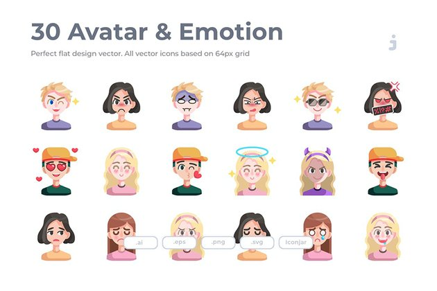 30 Avatar and Emotion Icons to Create Custom Twitch Emotes