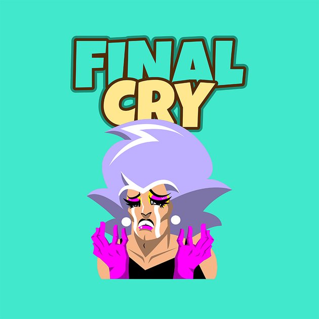 Twitch Emote Logo Creator Featuring a Character Crying