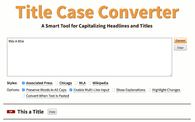 The Online Case Converter