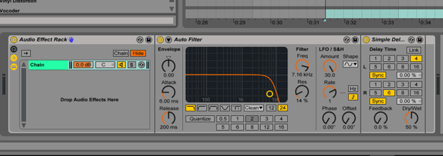 First Effect Rack in Ableton