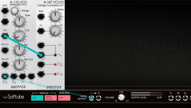 VCO modulated with a VCLFO