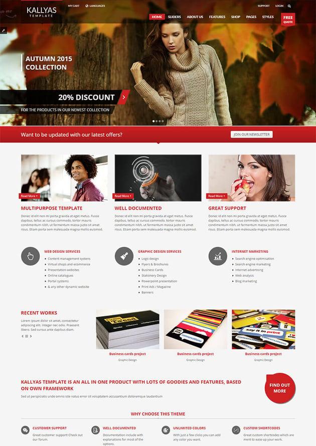 Kallyas Joomla theme Envato Market