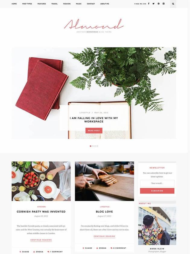Almond Inspiring Blog WordPress Template