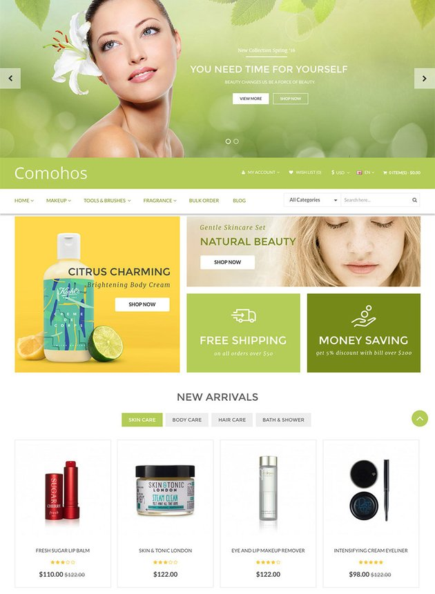 Comohos - 2016 OpenCart eCommerce Site Template