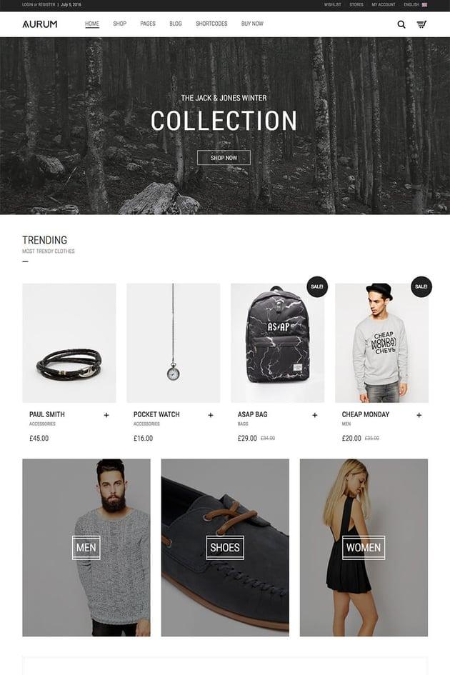 Minimalist WP Shopping Theme