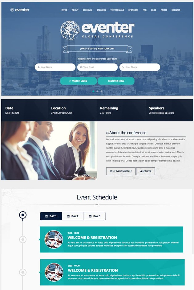 Eventer Event and Conference WP Theme