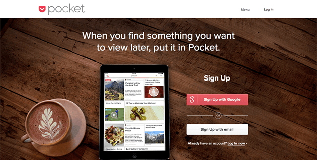 Pocket - Content curation tool