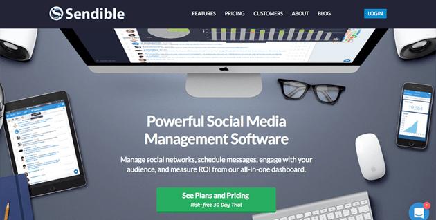 Sendible - Blog integrated social media management tool