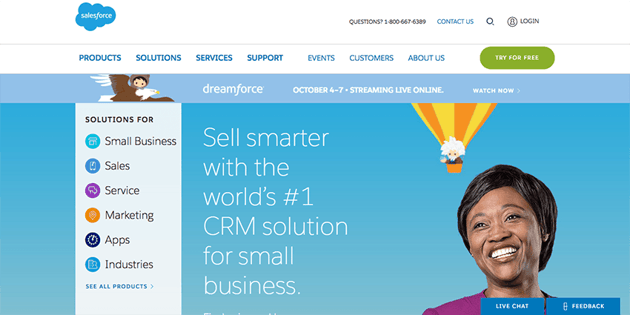 Use Salesforce to track sales leads