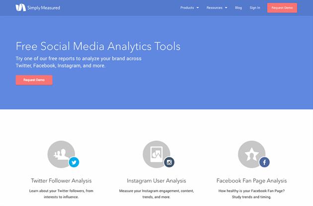 Simply Measured for comprehensive social media reporting