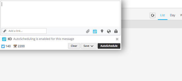 scheduling messages in Hootsuite