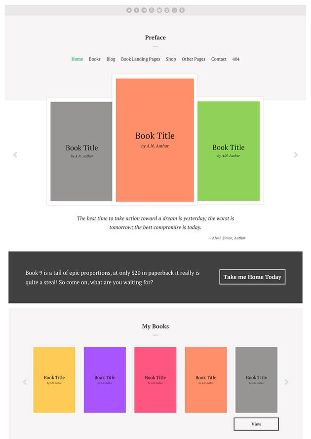 Preface Responsive WordPress Book Theme for Authors