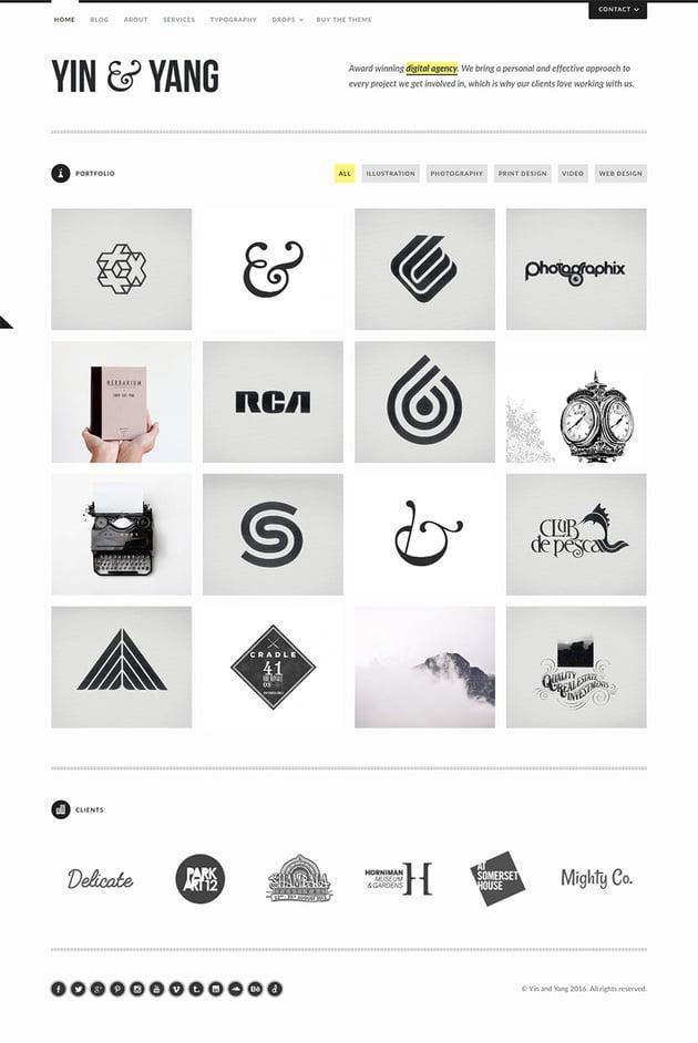 Yin Yang - Clean and Responsive WordPress Website Theme