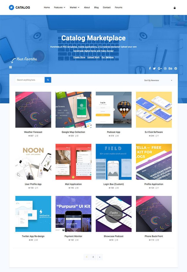 Catalog Buy Sell Marketplace WordPress Theme