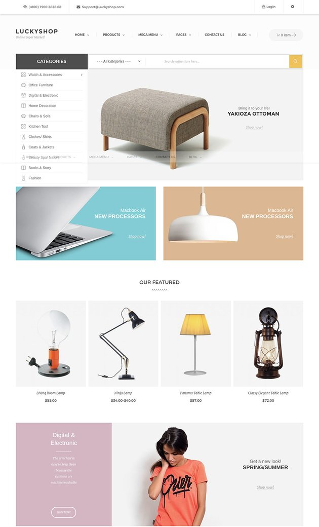 Lucky Shop Responsive Marketplace WordPress Theme