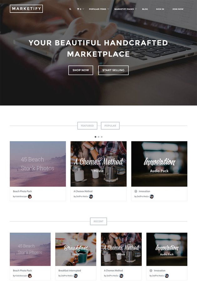 Marketify Modern WordPress Marketplace Theme