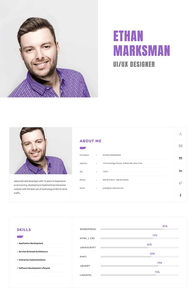 CVitae Responsive HTML Resume Website Template