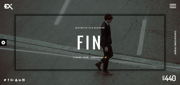 Fin - One Page Under Construction HTML Site Template