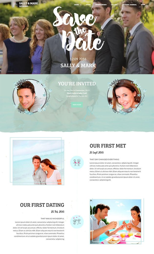 Wedding - Responsive Single Page HTML Site Template