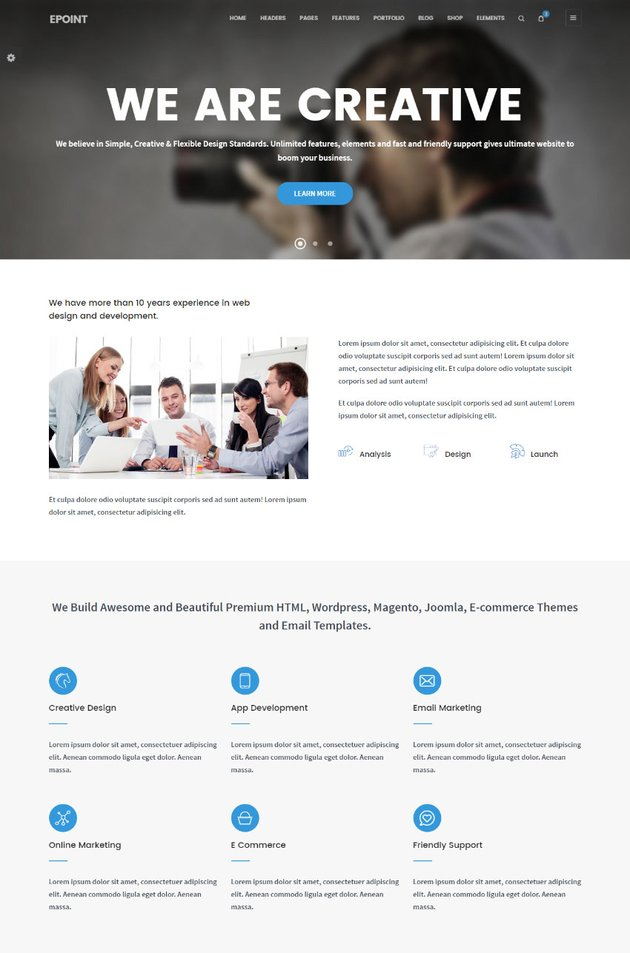 ePoint - Sleek and Intuitive HTML Site Template
