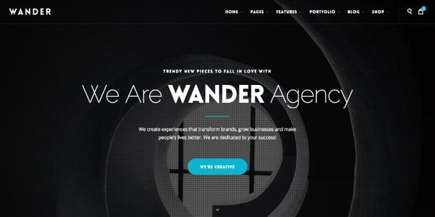 Wander website template