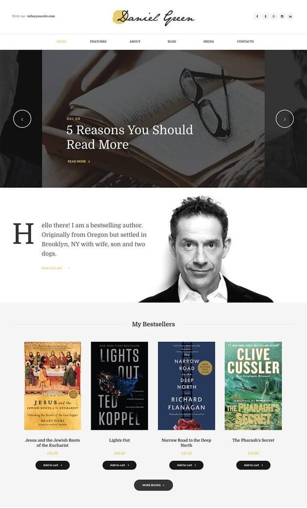 Writer personal blog theme for WordPress