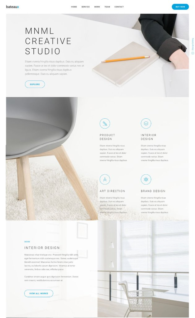 Bateaux one-page theme with parallax design