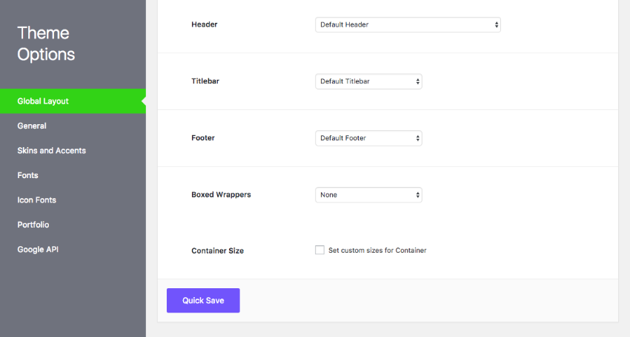 Work with the WordPress theme Options panel
