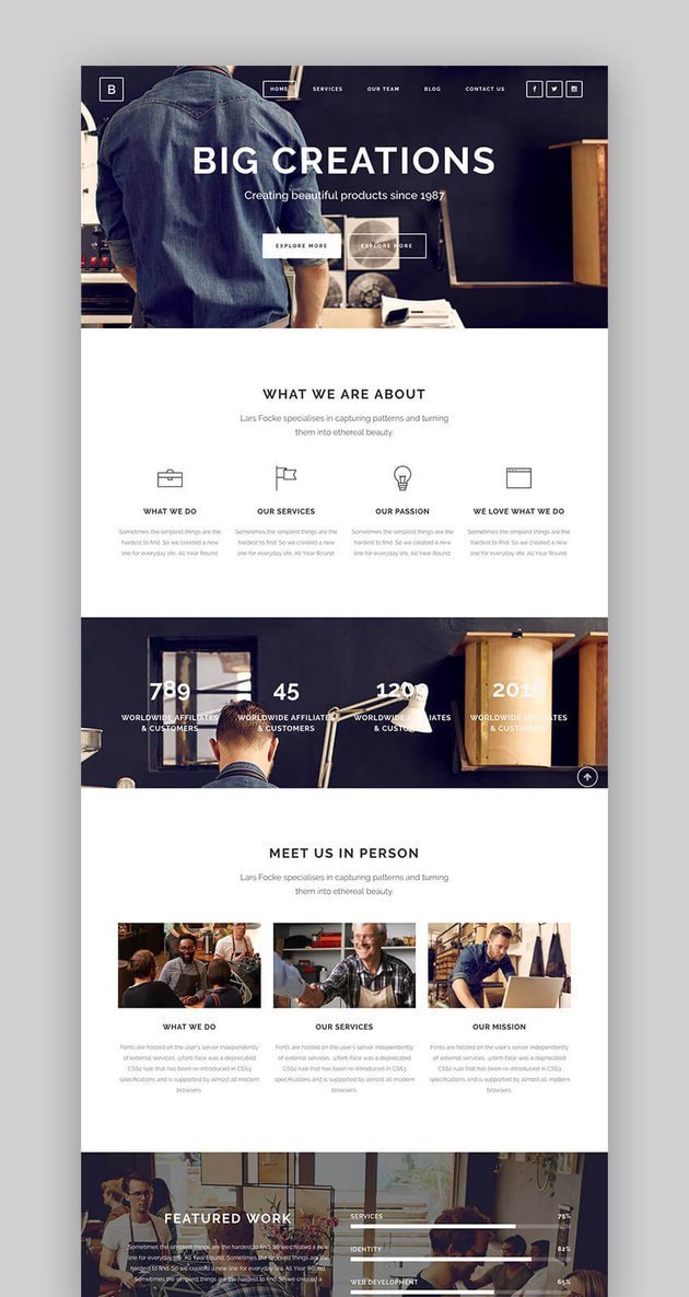 Bridge premium creative WordPress theme