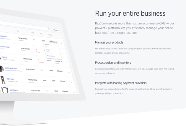 BigCommerce feature set
