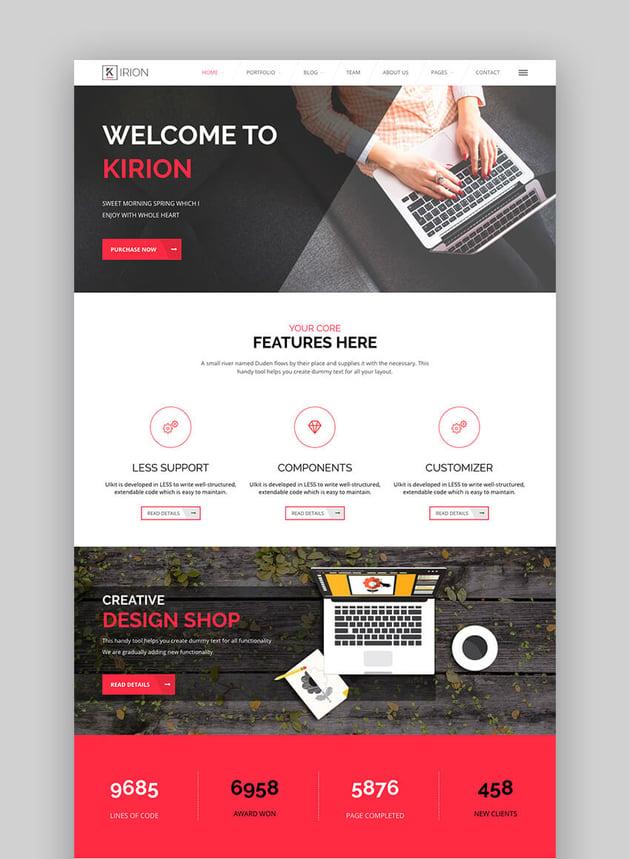 Kirion Flat business WordPress theme