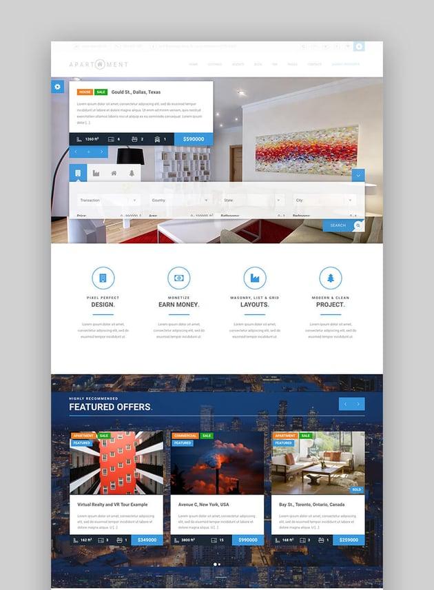 Apartment WP - Avanzado tema de diseño responsive para una sola propiedad