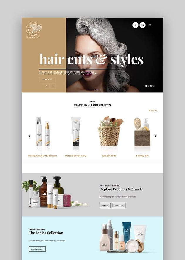 Salon WordPress Beauty Spa Website Theme