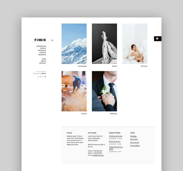 Finnik - Simple WordPress Theme for Photographers