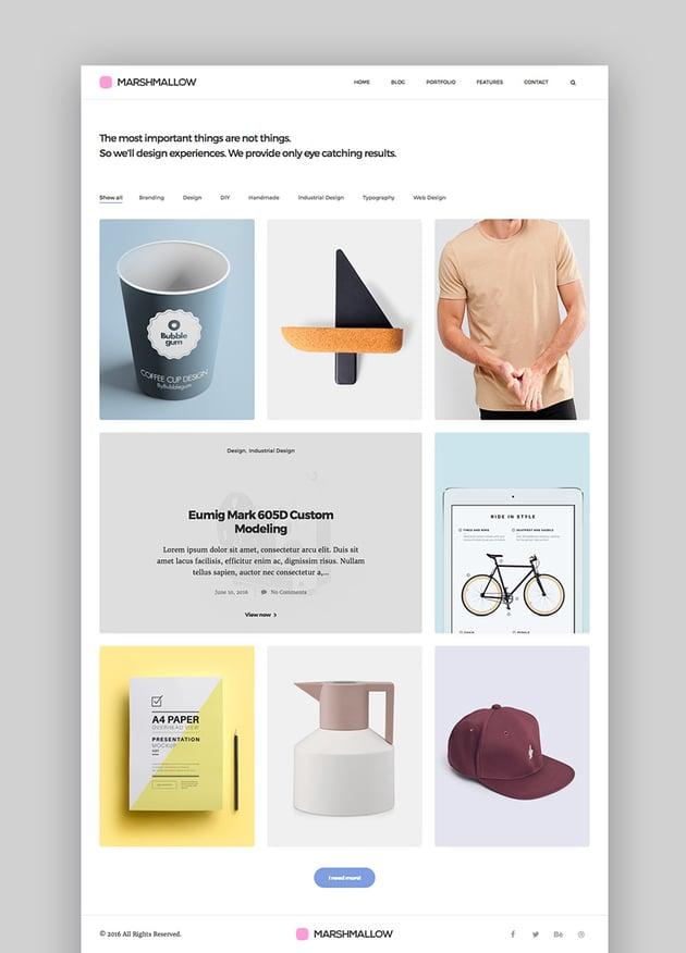Marshmallow Simple WordPress Portfolio and Blog Theme