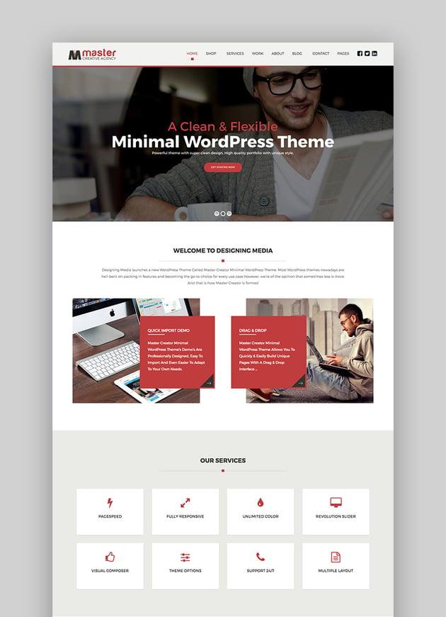 MasterCreator - Simple Responsive WordPress Theme