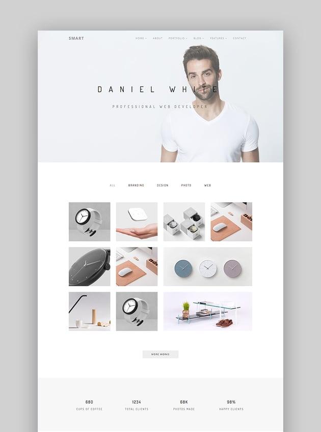 Smart - Easy Use Modern WordPress Theme Design