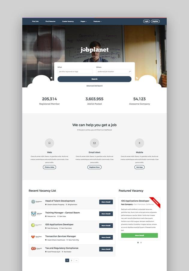 JobPlanet Responsive Job Posting WordPress Theme