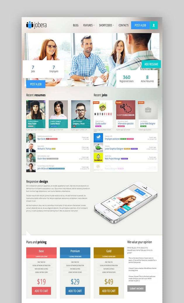 Jobera Job Portal WordPress Theme