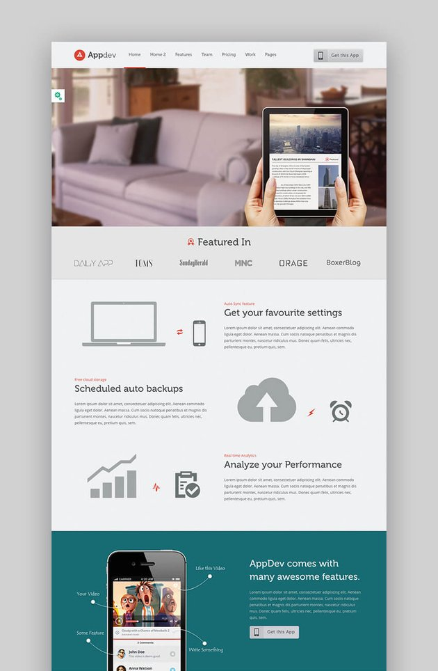 AppDev versatile App Software WordPress Theme